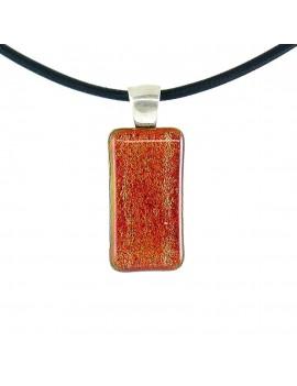 Collier Softy Rouge artisanal en verre dichroïque