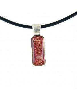 Collier Softy Framboise artisanal en verre dichroïque