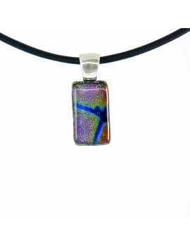 Collier Softy Multi Essence artisanal en verre dichroïque