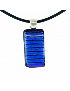 Collier Softy Bleu Rayé