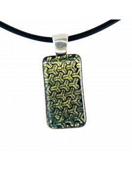 Collier Softy Jaune Stroma artisanal en verre dichroïque