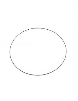Collier câble Noir 46cm