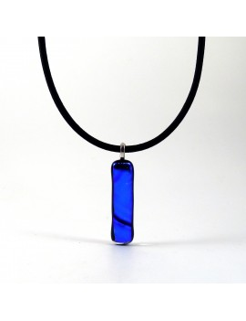 Collier fin bleu lagon
