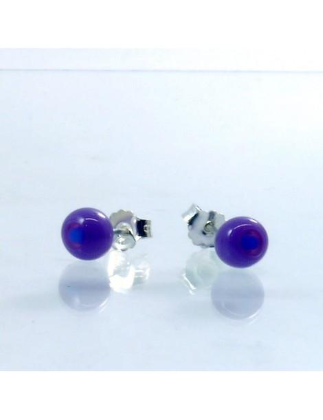 Puces d'oreilles Artisanales en verre de Murano