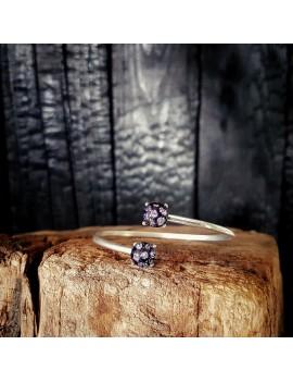 Bracelet Jonc Rose Clair artisanal en verre