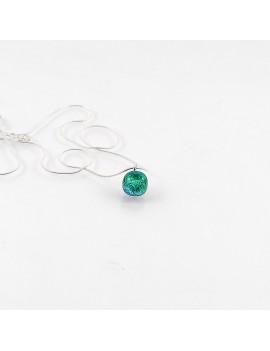 Collier Vitraux vert artisanal en verre