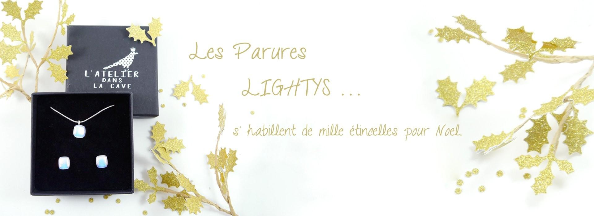 Colliers Lightys en verre dichroïque artisanal