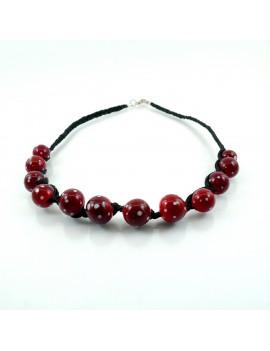 Collier Rouge St Valentin en verre de Murano artisanal