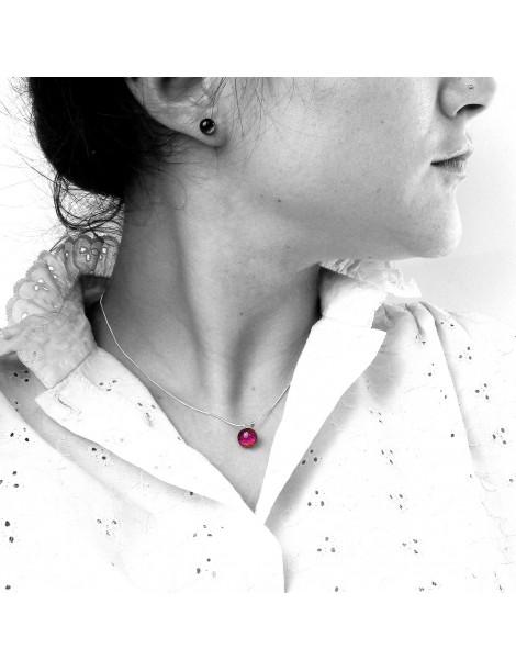 Collier Rouge Rubis artisanal en verre