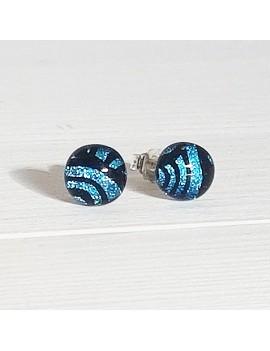 Puces d'oreilles Argent bleuté