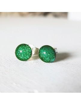 Puces d'oreilles Vert emeraude
