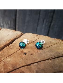 Puces d'oreilles Artista bleu-vert