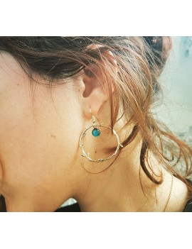 Boucles d'oreilles Bleu Azur