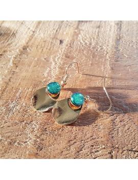 Boucles d'oreilles Vert Véronèse