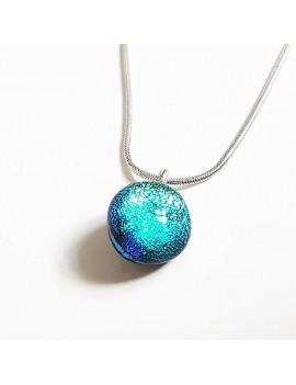 Collier Lighty Bleu artisanal en verre