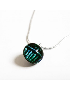 Collier Lighty artisanal en verre dichroïque