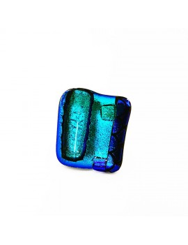 Bague Mil'Shake Bleu artisanale en verre