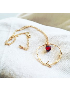 Collier Rouge Rubis en Or