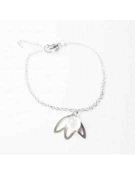 Bracelet Nénuphar 'Diamant' artisanal en verre